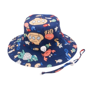 Baby Boys Girls Hats Soft Cotton Summer Sun Caps Infant Bucket Hat Denim Toddler Kids Tractor Cap For Kid