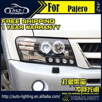 AKD Car Styling Head Lamp for Mitsubishi Pajero V73 Headlights LED Headlight DRL H7 D2H Hid Option Angel Eye Bi Xenon Beam