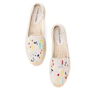 Image 2 - 2020 Denim Echte Nieuwe Schoenen 2019 Espadrilles Sapatos Zapatillas Mujer Platform Dame Slippers Voor Lente Flats Schoenen Mode