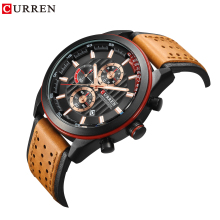 купить CURREN Trendy Sports Wrist Watch Men's Military Waterproof Watches Calendar Quartz Wrist Watch Male Montre Homme по цене 1451.3 рублей