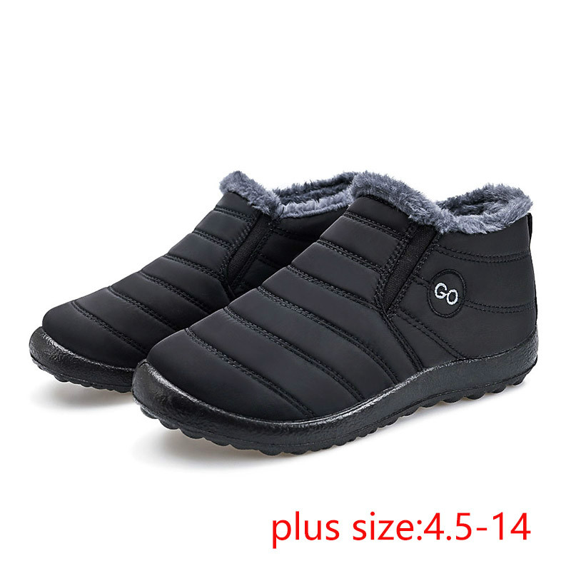 Women snow boots 2020 new waterproof winter boots women shoes solid casual shoes woman keep warm plush winter shoes women boots Ankle Boots    - AliExpress