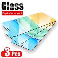 3Pcs 3D Glas para iphone 11 Pro Max protectora de vidrio en aifone X Xr 10 Xs 11Pro Max protector de pantalla en iphone11 ProMax película Armadura