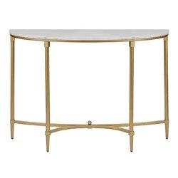 Lekka luksusowa nordycka marmurowa hala wejściowa szafka z kutego żelaza półokrągła ganek dekoracja stołu przy ścianie