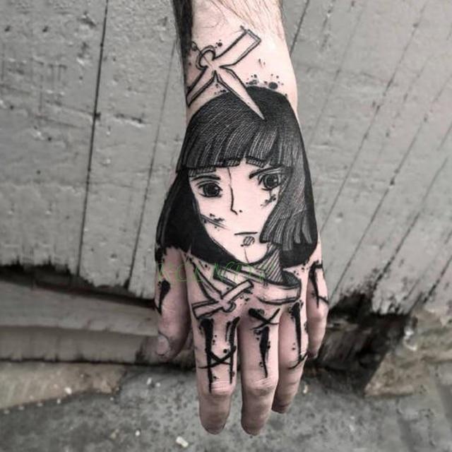 Waterproof Temporary Tattoo Sticker cool Fake Tatto Flash Tatoo Japan anime Spirited Away Tato body art for Girl Women Men