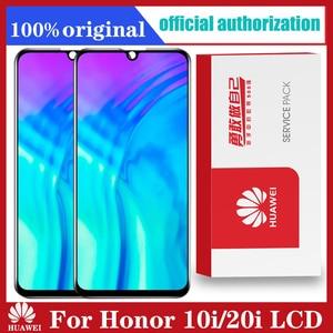Image 1 - 화웨이 명예 10i / 20i HRY LX1T LCD 디스플레이 + 터치 스크린 디지타이저 어셈블리 LCD 교체 + 프레임 용 6.21 인치 100% 새 원본 Lcd
