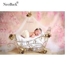 NeoBack Vinyl Spring Easter Pink Flower Newborn Baby Shower Photography Backgrounds Fantasy Floral Studio Photo Backdrop Prop