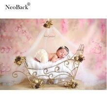 NeoBack Vinyl wiosna wielkanoc różowy kwiat noworodka prysznic fotografia tła Fantasy kwiatowy Studio tło do zdjęć Prop
