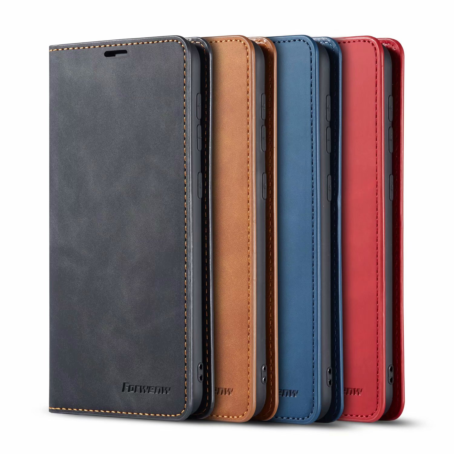 Forwenw Retro Leather Flip Card Wallet Case For Samsung  Galaxy S20  Plus S20 Ultra Magnetic Stand Flip Cover Shockproof