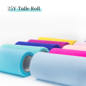 Image 5 - Tulle Roll Spool 25 Yards 15cm White Organza Roll Red Blue Tulle Organza Fabric Tutu Skirt Girl Baby Shower Decor Party Supplies