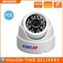 BESDER 2.8MM Wide Angle IP Camera 720P/1080P P2P H.264 Onvif Small CCTV Indoor Dome Surveillance Video Camera RTSP 48V POE XMEye