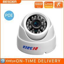 BESDER cámara IP gran angular de 2,8 MM, 720P/1080P P2P, H.264, Onvif, CCTV pequeña, cámara de vídeo de vigilancia para interiores, RTSP, 48V, POE XMEye
