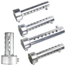 Silver Motorcycle Exhaust Can Muffler Insert Baffle DB Killer Silencer 35mm x 140mm