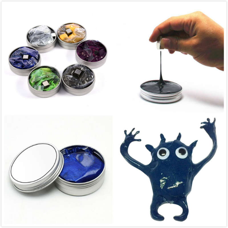 6 Colors Hand Modeling Clay Putty Slime Play Dough Slime Magnetic Putty Magnetic Slime DIY Handgum Anti Stress Decompression Toy