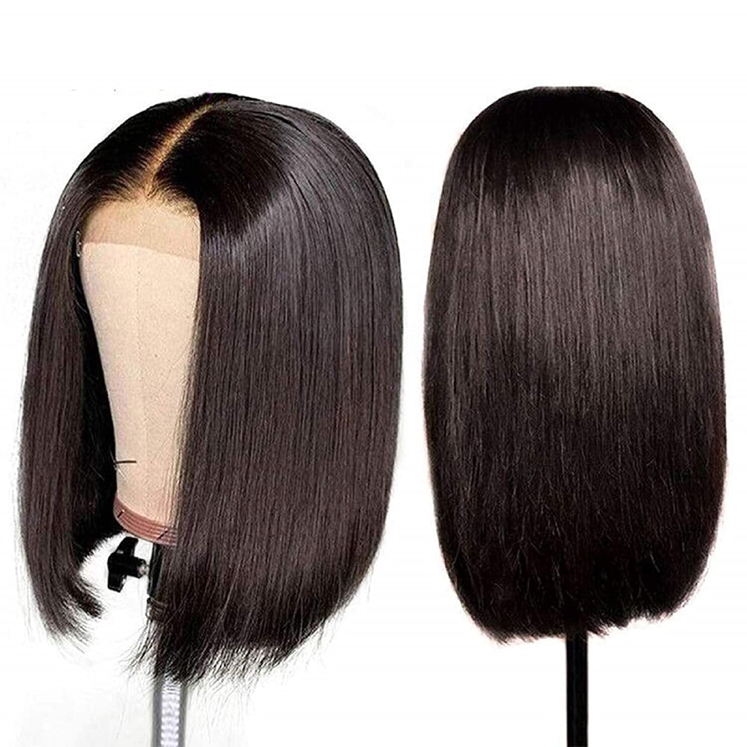 Ombre 4x4 Closure Wig Bone Straight  Wigs  T1b/99j   Cosplay Wig Lace Frontal Wigs 3