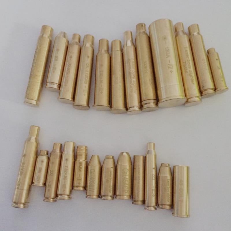 12GA .308 .3006 7X57R 7.62x39 8mm 8x57JRS 222 7.62X54 7mm 300 .223 9mm Cartouche Laser Rouge Alésage Coup D'essai Collimateur Boresighter