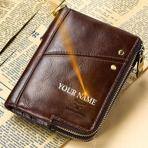 Image 4 - 2020 Classic Style Men Wallets Genuine Leather Short  Male Coin Purse Cards Holder High Quality Pocket Retro Purse For Man
