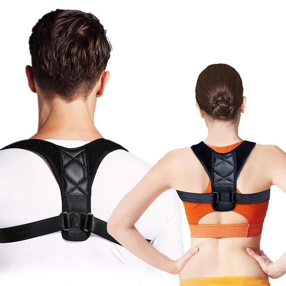 Tıbbi ayarlanabilir klavikula duruş düzeltici erkekler kadınlar üst geri Brace omuz bel destek kemeri korse duruş düzeltme