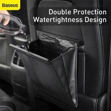 Baseus – paniers de rangement pour siège de voiture, organiseur arrière en cuir PU avec sac à ordures, accessoires d'intérieur