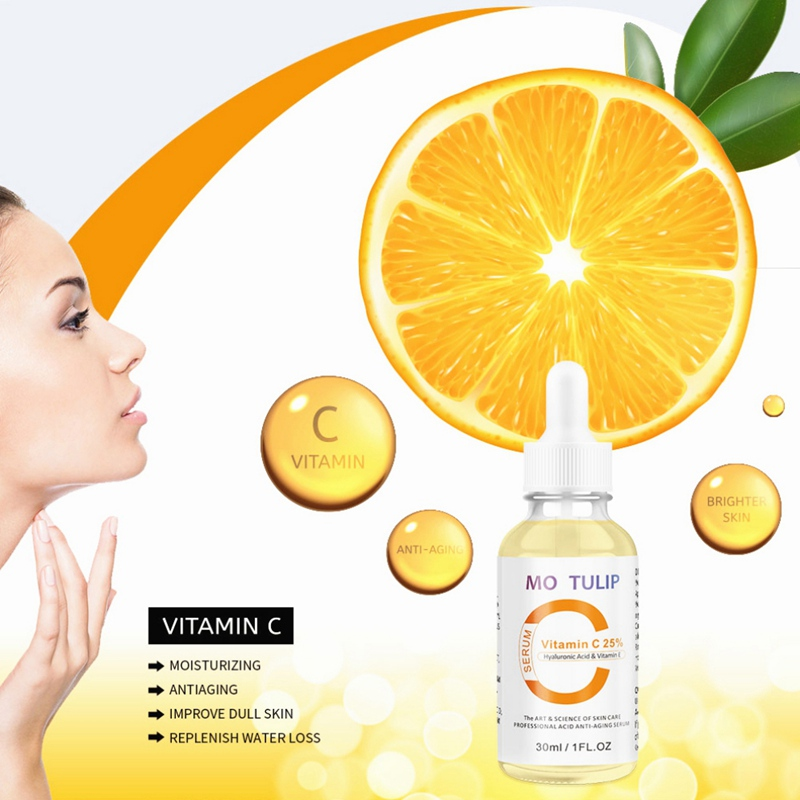 Natural Vitamin C VC Serum Brightening Moisturizing Anti-Aging Anti-wrinkle Skin Care Essential Oils Face Care Serum Beauty