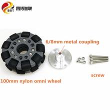 SZDOIT 100mm Omni directional Wheel  Heavy Load Double nylon rubber For Intelligent Robot Mobile Platform