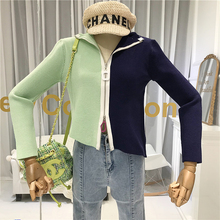 Asymmetry Cardigans Women Designer High Street Sweaters Solid Zipper Womens Free Knitted Sweater Fashion Clothing