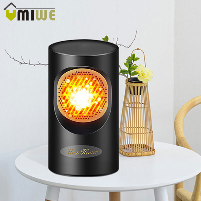 Mini Home Heater Portable Electric Air Heater 2S Fast Heating Warm Fan Desktop For Winter Household Bathroom Infrared 300-400W