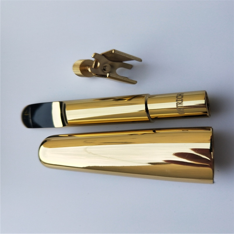 Professional Custom LoGo Or You Name Saxophone mouthpiece Brass Metal Alto Saxophone mouthpiece ligature cap Gold plate B-7