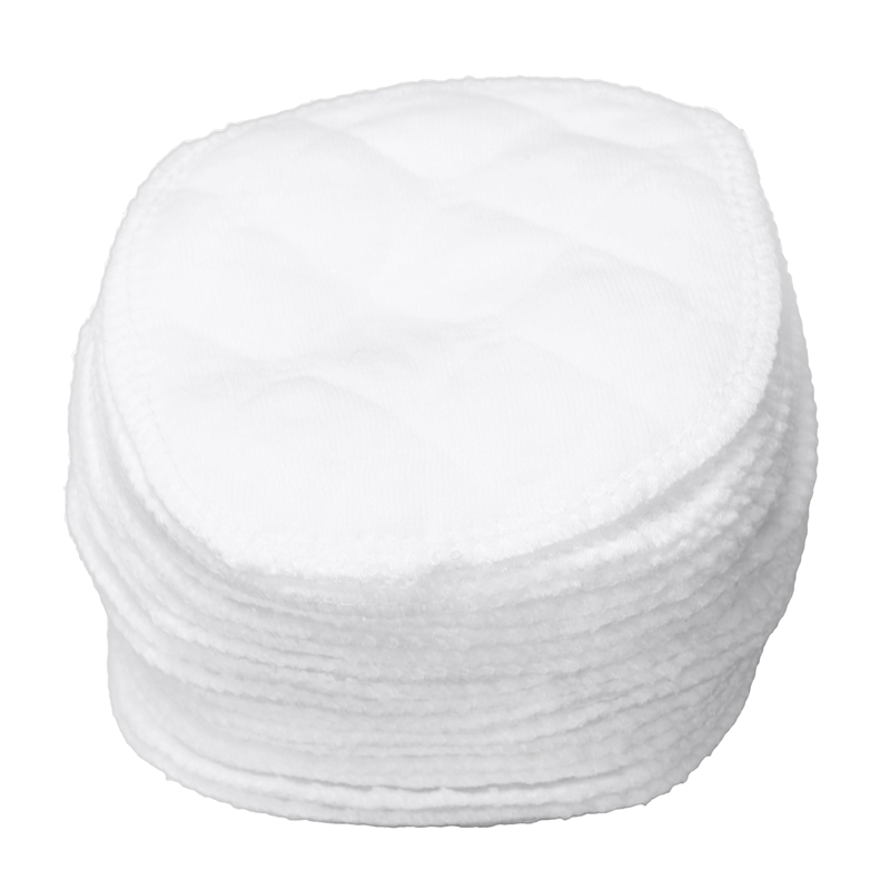 20 Pcs Ultra Comfort Breast Pads Washable Extra Absorbent Cotton Baby, White