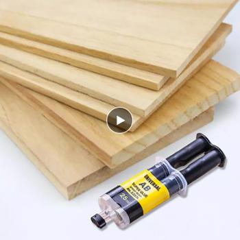 4 25ml nowy klej AB mocny klej do domu mocny klej klej do naprawy klej o wysokiej wytrzymałości szybkoschnący sprzęt domowy klej uszczelniający tanie i dobre opinie CN (pochodzenie) Woodworking Silicone Sealant 4ml 25ml High adhesion 1*Glue