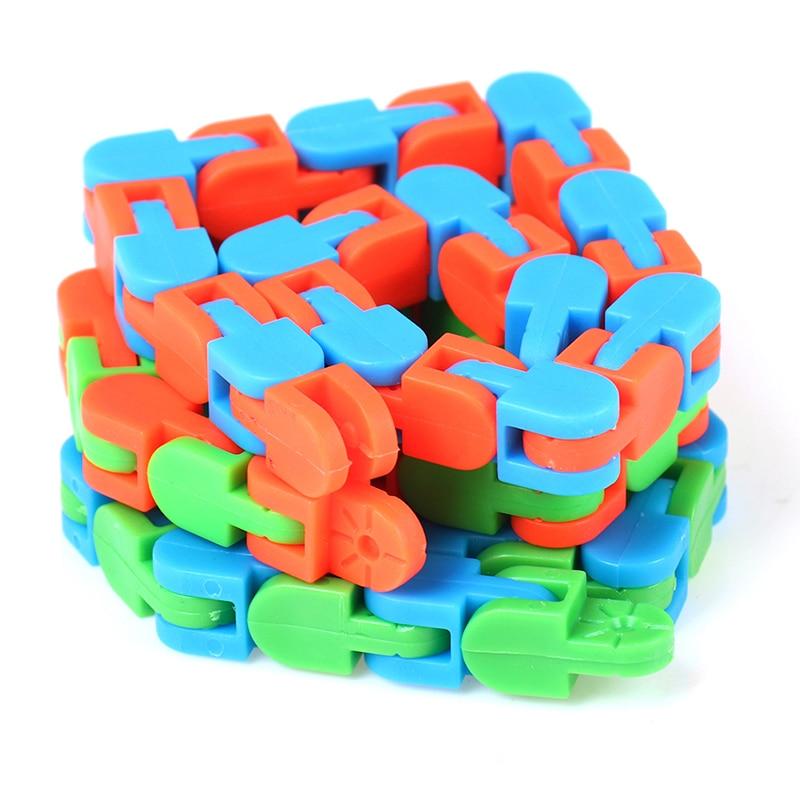 Sensory Toy Fidget-Toys Puzzles Autism Wacky Tracks Snake Snap Random-Color Kids Classic img4