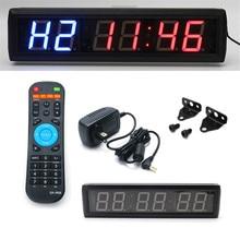 """2,"""" цифровые настенные часы светодиодный~ интервальный таймер с пультом дистанционного управления домашний тренажерный зал для Табата фитнес-таймер оборудование для упражнений"""