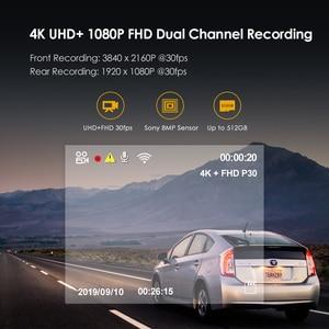 Image 4 - A129 pro duo viofo 4k câmera de ré dupla, ultra hd, 4k, para frente de estrada, mais nova 4k dvr câmera automotiva super de visão noturna com gps e hk3