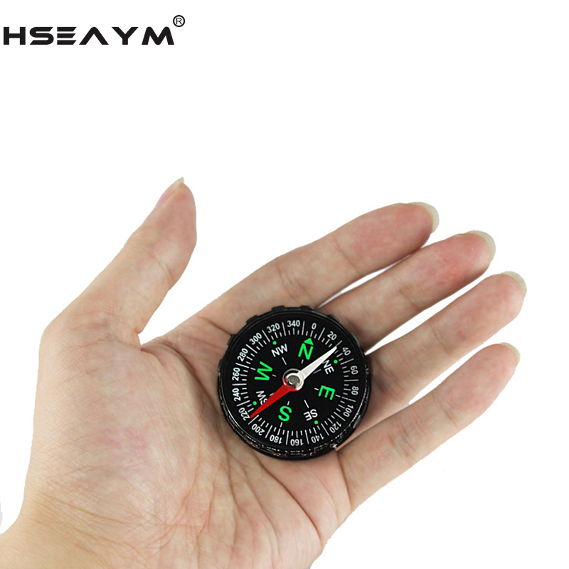 HSEAYM  Compass Hunting Camping  Travel Hiking Car Handheld Pointing Guide Compass