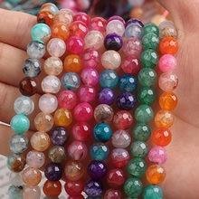 Grânulos de espaçador pedra vermelha natural redonda rosa vermelha solta contas para jóias diy fazer pulseira acessórios 15
