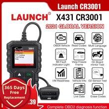 Lançamento x431 cr3001 obd2 scanner automotivo profissional obdii leitor de código ferramenta de diagnóstico do carro motor fora da língua russa elm327