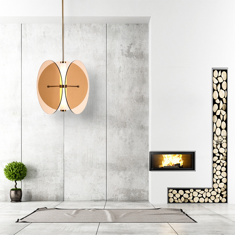 Nordic Led Minimalist Pendant Light Adjustable Iron Glass Ball Pendant Lights Living Room Bedroom Decor Led Lighting Fixtures S