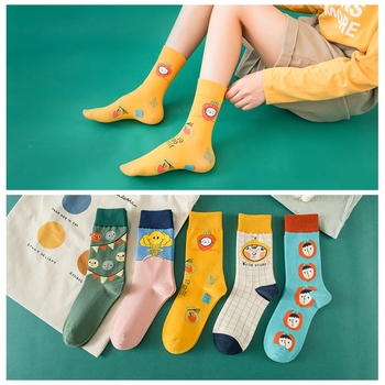 New autumn Original Cartoon socks Women Cute characters Strawberry Clouds Fashion lovely Cotton Funny Girls