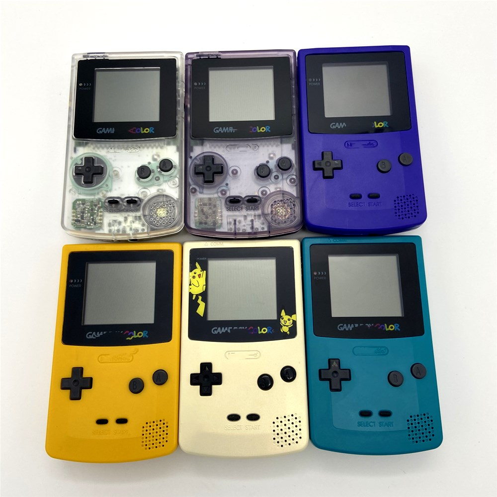 New shell Refurbished For GameBoy COLOR GBC Console Recreational machines Palm game title=