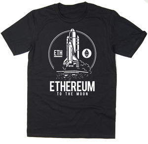 2019 Hot Sale Free Shipping Ethereum To The Moon T Shirt Btc Eth $Eth Bitcoin Crypto 6 Colours 033115(China)