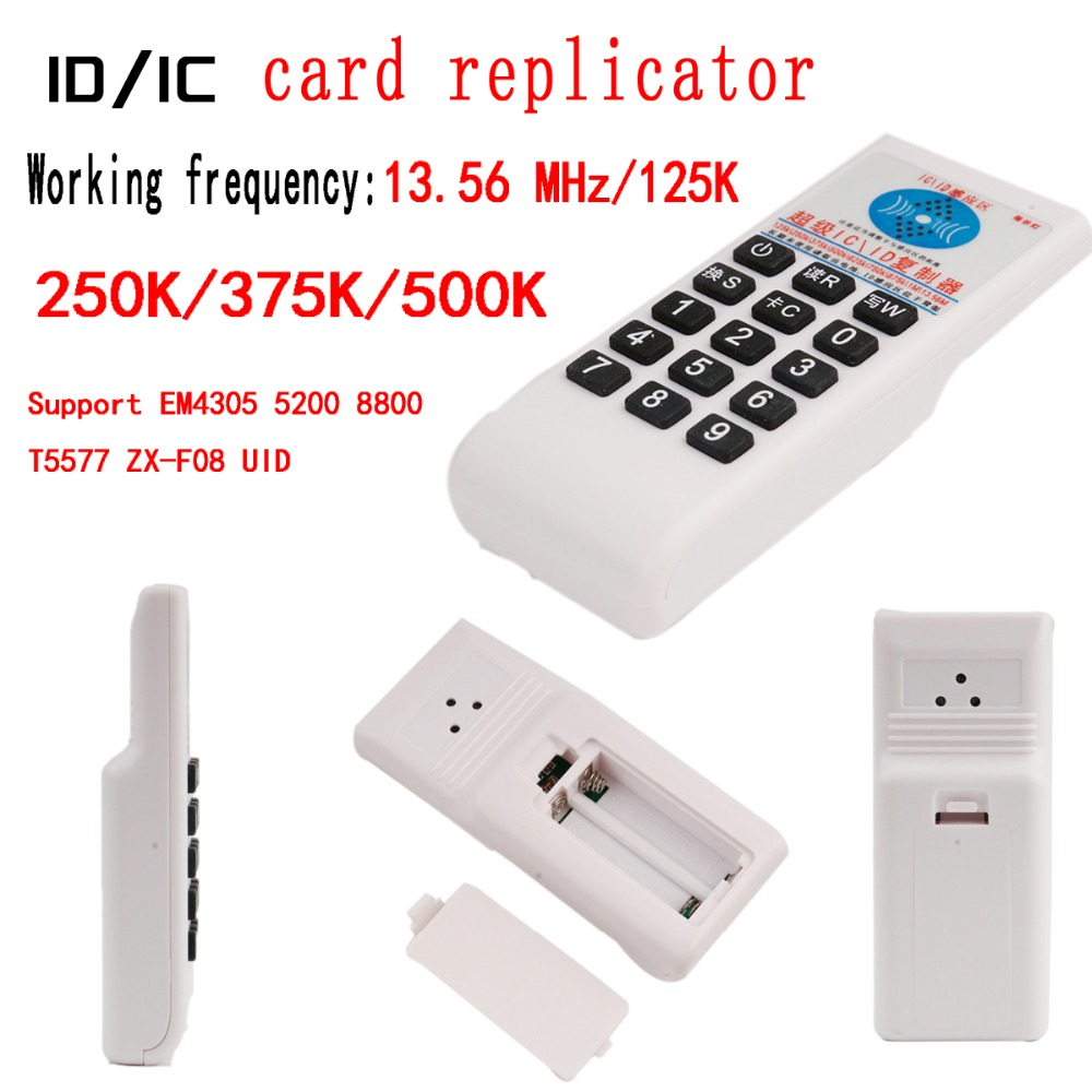 125KHz 13.56 MHz Frequency RFID Copier ID IC Card Replicator Reader Writer Copy Programmer Reader Support EM4305/5200/8800/T5577