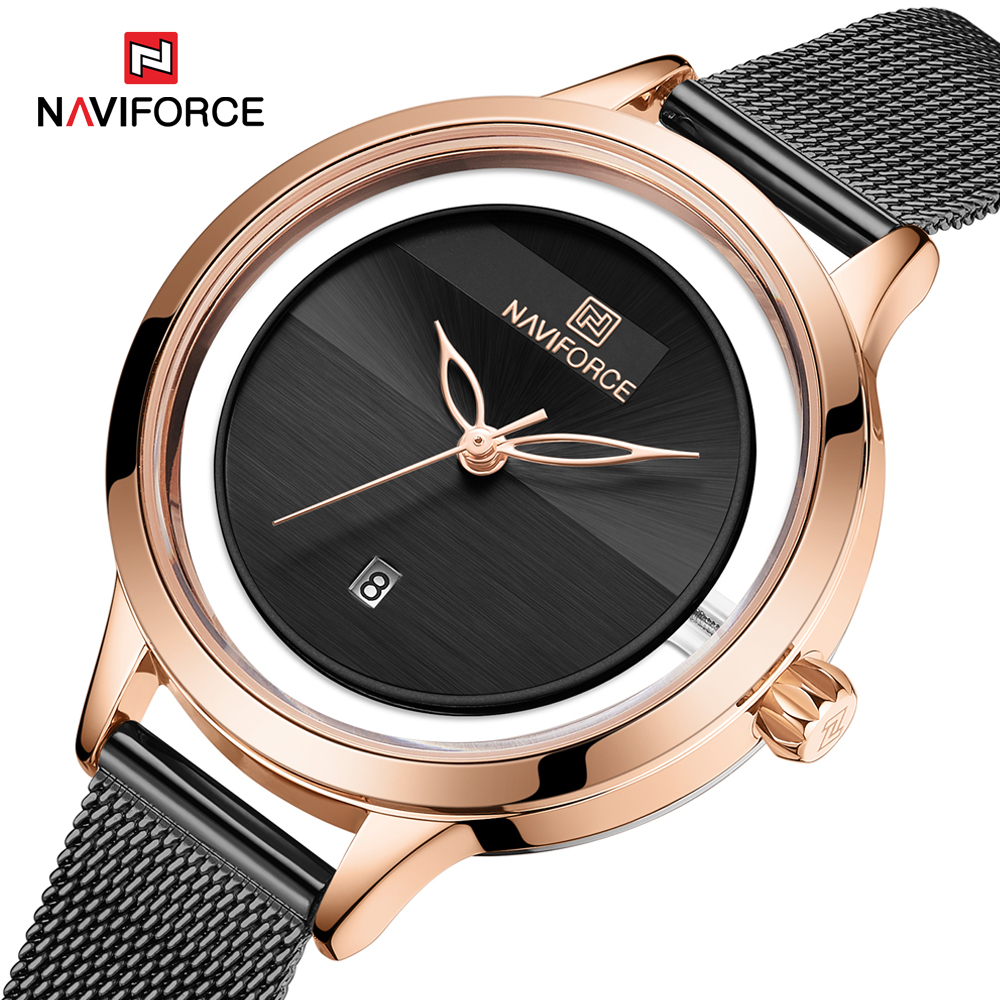 NAVIFORCE New Top Brand Luxury Women Watch Rectangle Dial Elegant Quartz Ladies Wristwatches Waterproof Gift Reloj Mujer