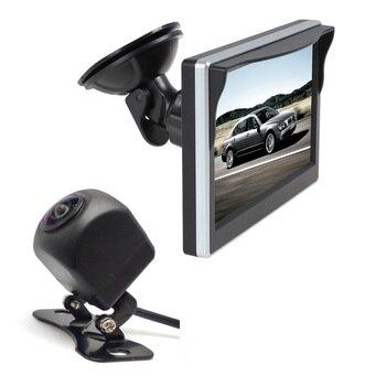 Car Monitor 5 Inch 800*480 Screen 2 Way Video Input monitor for backup camera , Vehicle Rear View Camera, front