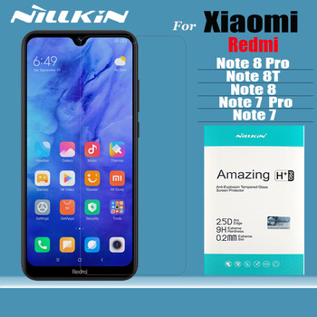 Nillkin for Xiaomi Redmi Note 9 9s 8T 8 7 Pro Max Glass Screen Protector 9H Safety Tempered Glass for Xiaomi Mi 10 Lite 9 SE 9T