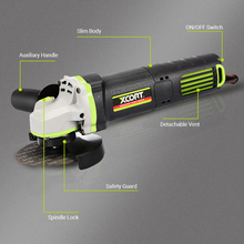 Angle-Grinder Grinding-Machine Wood Electric Metal 800W 10000RPM with Auxiliary-Handle