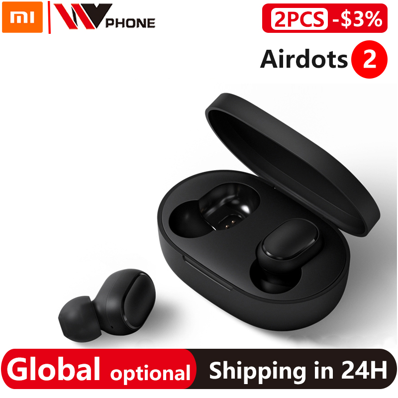Xiaomi Redmi AirDots 2 TWS Wireless Stereo Bluetooth 5 0 Earphone Noise Reduction Handsfree AI Voice Control Airdots Generation