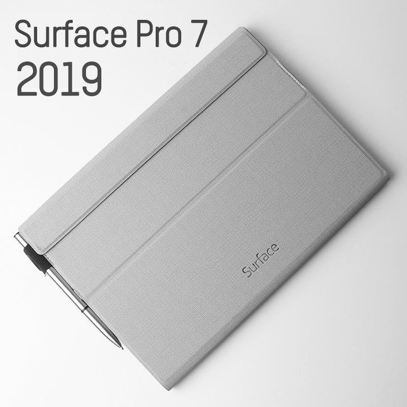 Luxury PU Leather Folio Stand FLip Case Cover For Microsoft Surface Pro 7 2019 /Pro6 2018 Auto Sleep/Wake Up With Pen Holder