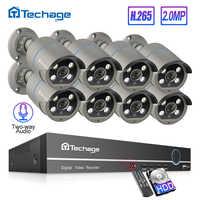Techage 8CH 1080P POE NVR Kit jusqu'à 16CH H.265 système de sécurité CCTV 2 voies Audio 2MP AI caméra IP ensemble de Surveillance vidéo extérieure