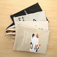 Кошка А4 файл мешок портфели папки, Документы, канцелярские файл мешок школы хранения держатель чехол молния мешок 4 цвета
