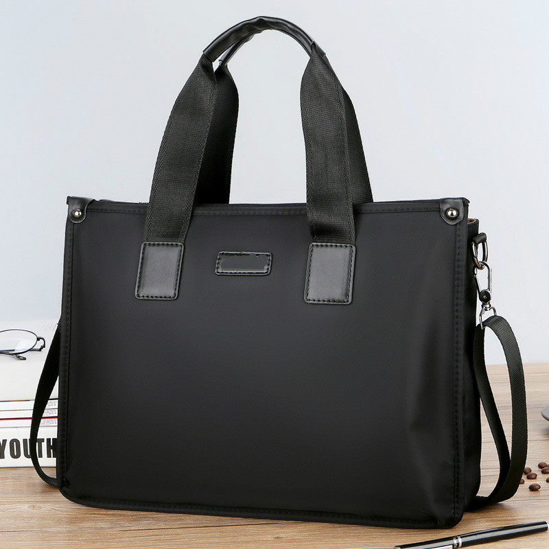 Portafolio Staff Office Working Bag Handbags For Men Briefcase A4 File Nylon Messenger Waterproof Black Bolsos Mujer Business