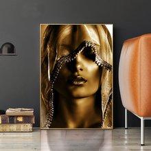 Постеры с золотым макияжем для женщин скандинавские картины